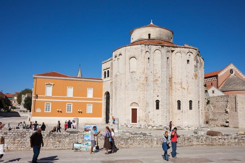 Iglesia del St Donatus en Zadar imagen de archivo
