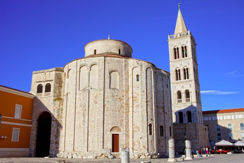 Iglesia del St. Donatus en Zadar imagen de archivo libre de regalías