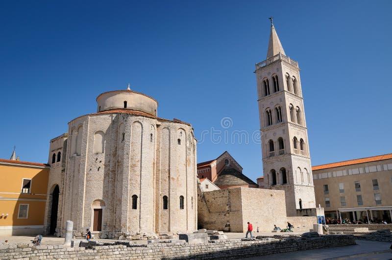 Iglesia del St. Donatus, Zadar, Croatia fotografía de archivo libre de regalías