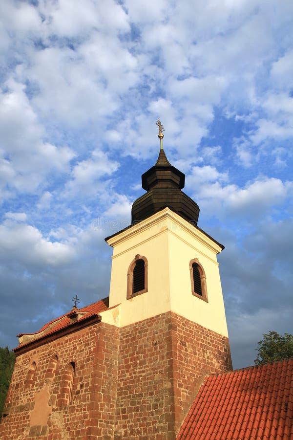 Iglesia del St Jakob Older cerca de Stribrna Skalice, República Checa fotos de archivo