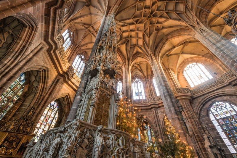 Iglesia del St Lorenz en la Nuremberg, Alemania imagen de archivo libre de regalías