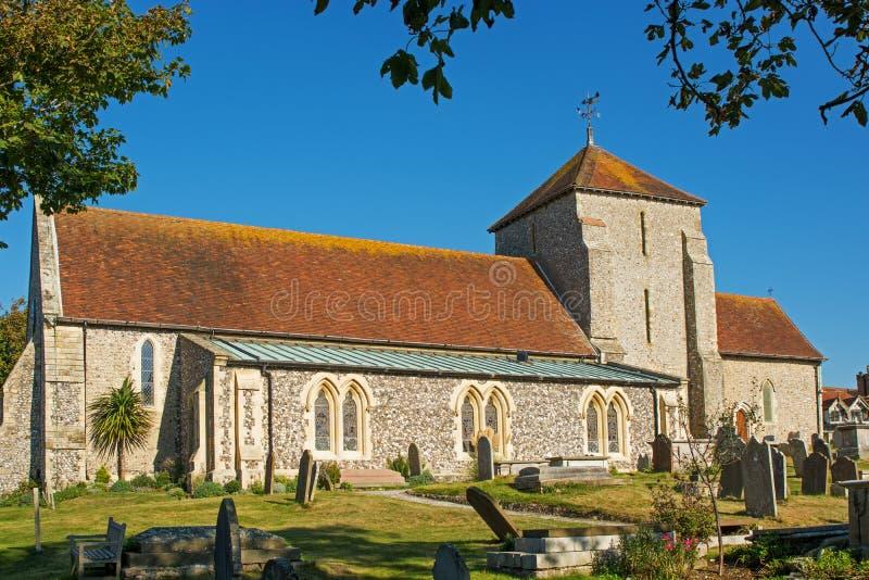 Iglesia del St Margarets, Rottingdean, Sussex, Inglaterra fotografía de archivo