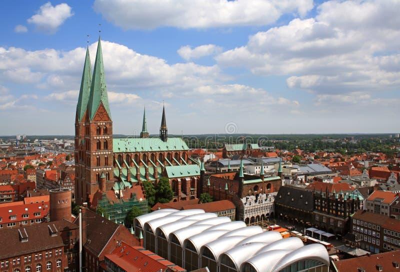 Iglesia del St. Maria en Luebeck fotografía de archivo libre de regalías