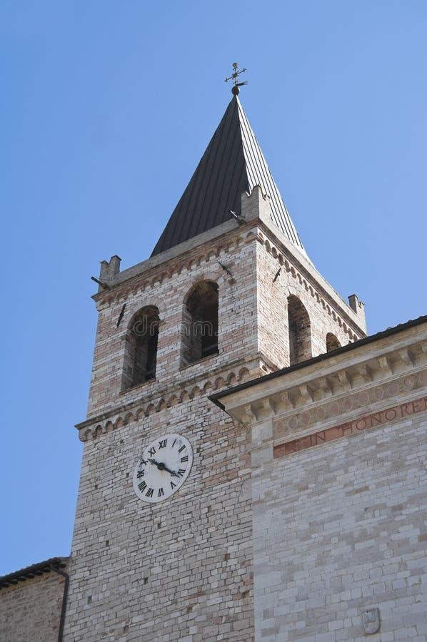 Iglesia del St. Maria Maggiore. Spello. Umbría. fotos de archivo