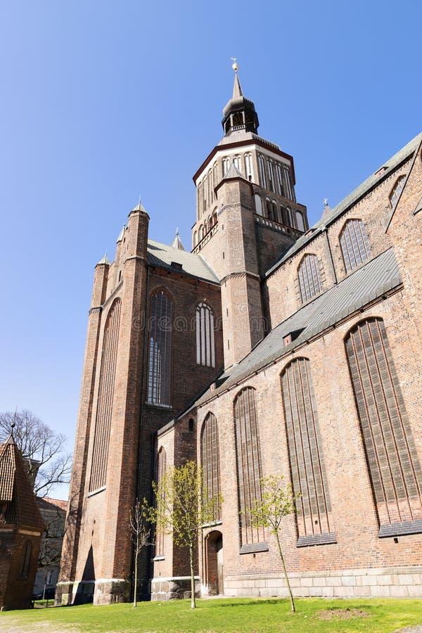 Iglesia del St Marien en Stralsund imagen de archivo libre de regalías