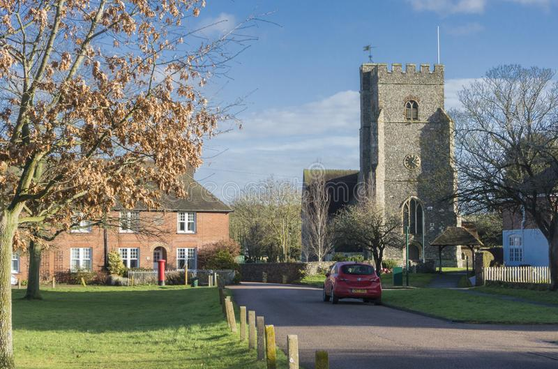 Iglesia del St Marys, Chartham, Kent imagenes de archivo