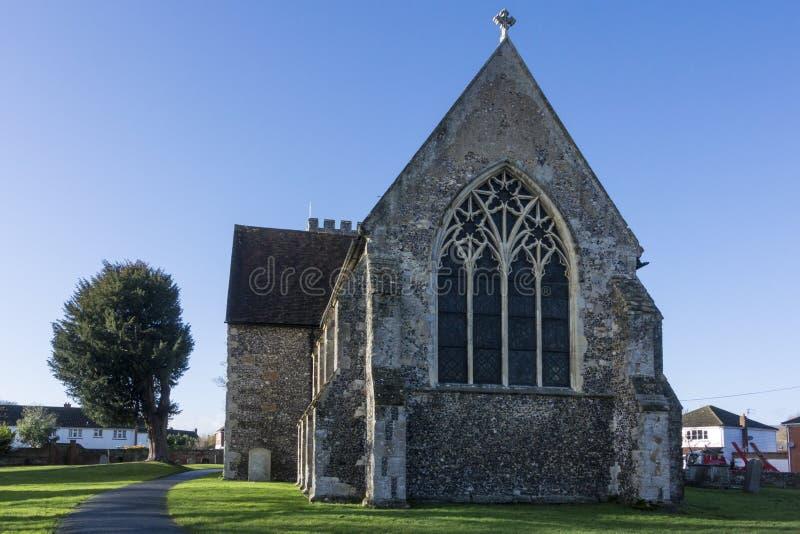 Iglesia del St Marys, Chartham, Kent fotografía de archivo