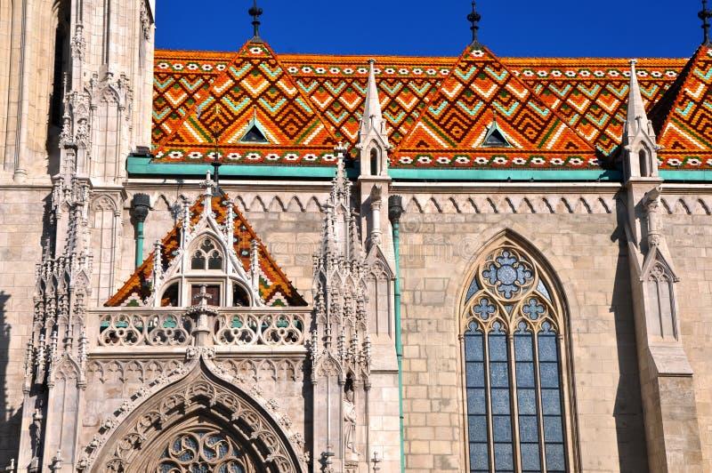 Iglesia del St Matías en Budapest, Hungría fotografía de archivo libre de regalías