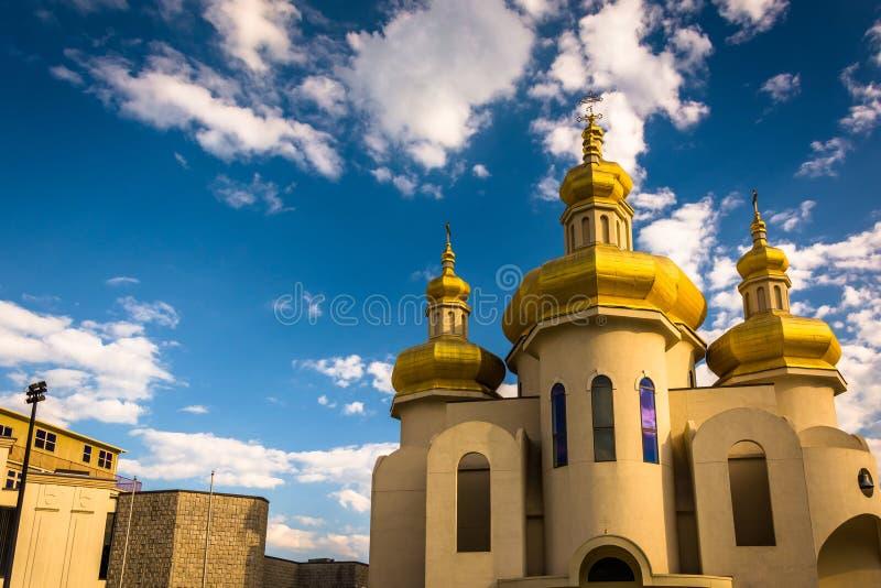 Iglesia del St Michael The Archangel Ukranian Catholic en Baltimore, foto de archivo