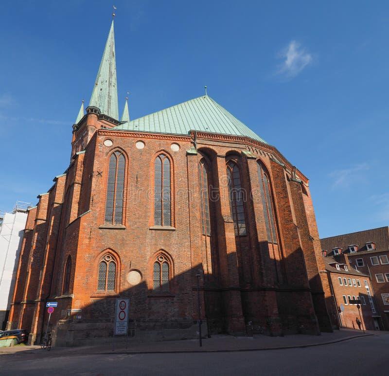 Iglesia del St Petri en Luebeck imagen de archivo