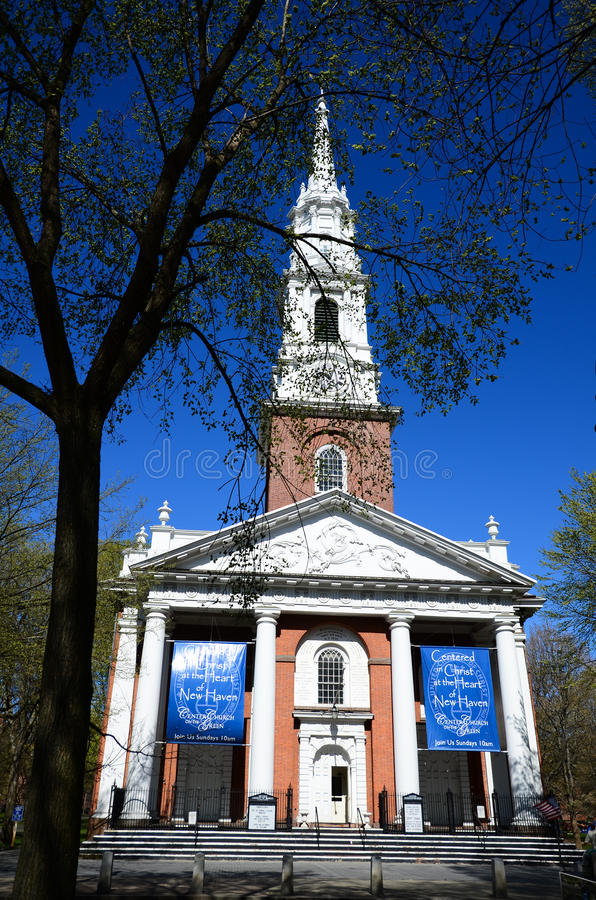 Iglesia del verde de New Haven foto de archivo libre de regalías