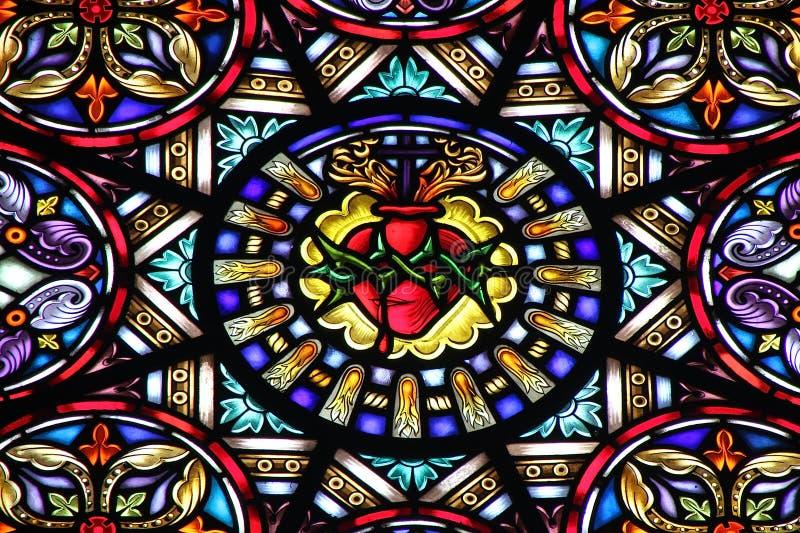 Iglesia del vidrio manchado imágenes de archivo libres de regalías