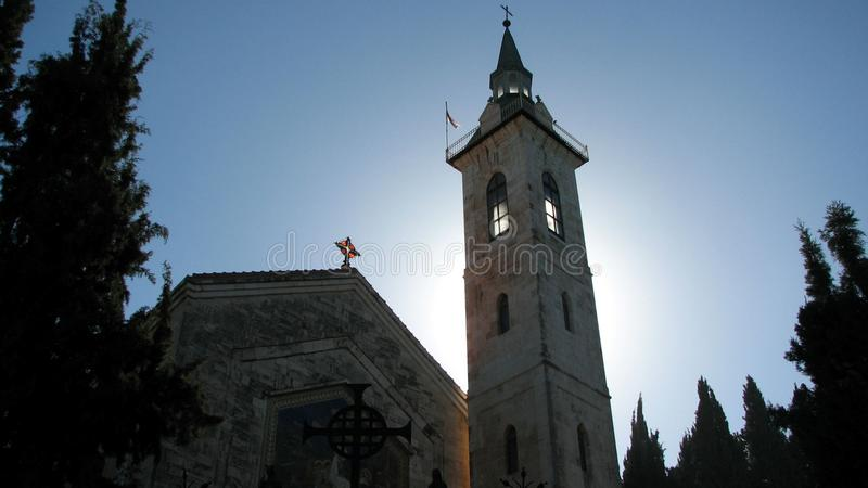 Iglesia del Visitation, Israel imagenes de archivo