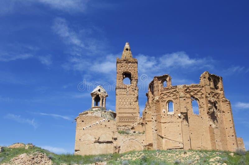 Iglesia demolida foto de archivo