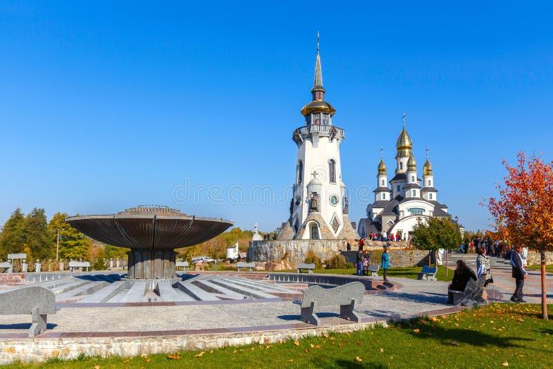 Iglesia el pueblo de Buki Ukraine imagen de archivo