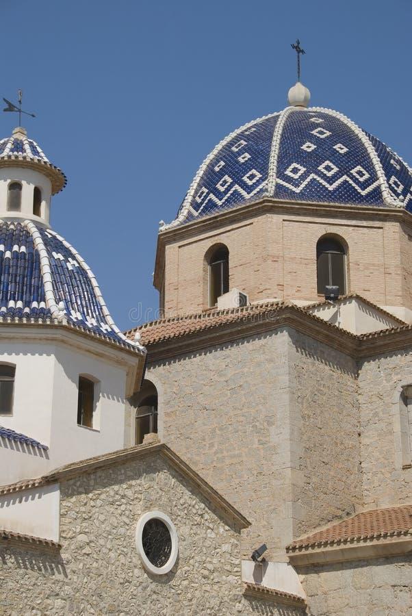 Iglesia en Altea, España imágenes de archivo libres de regalías