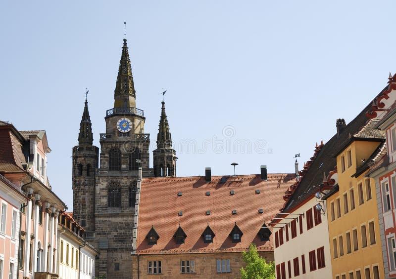 Iglesia en Ansbach fotos de archivo libres de regalías