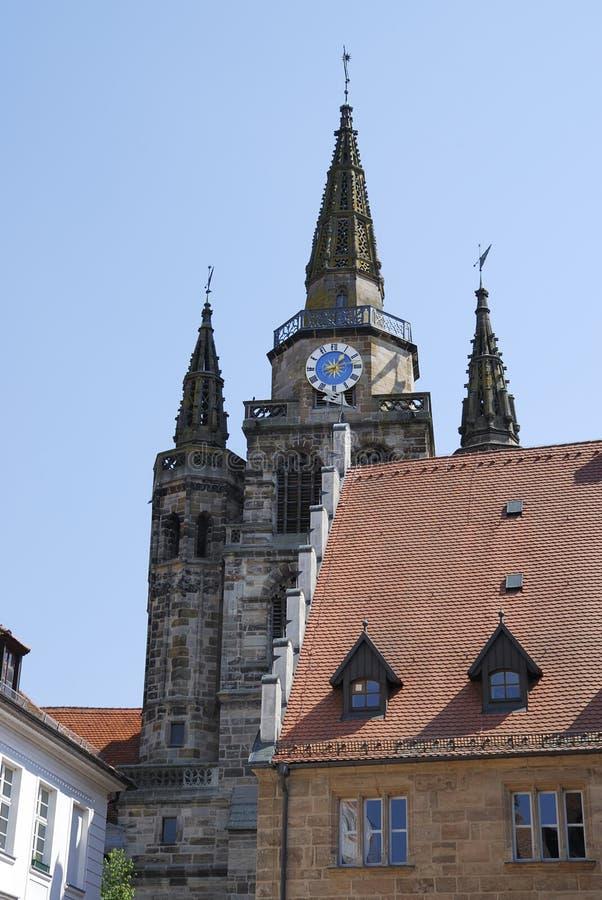 Iglesia en Ansbach imagen de archivo