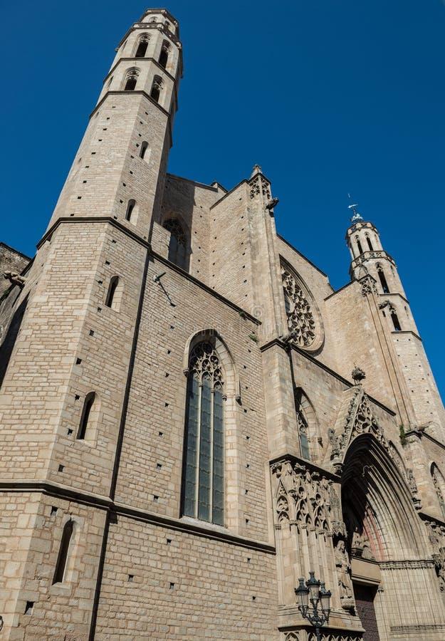 Iglesia en Barcelona imagen de archivo libre de regalías