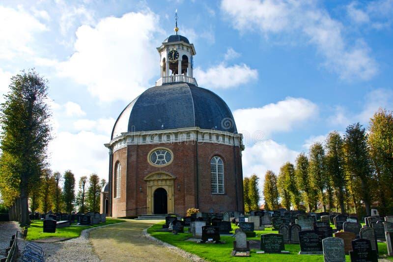 Iglesia en Berlikum fotografía de archivo
