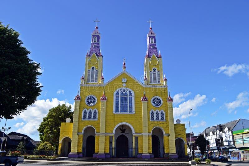 Iglesia en Castro imagenes de archivo