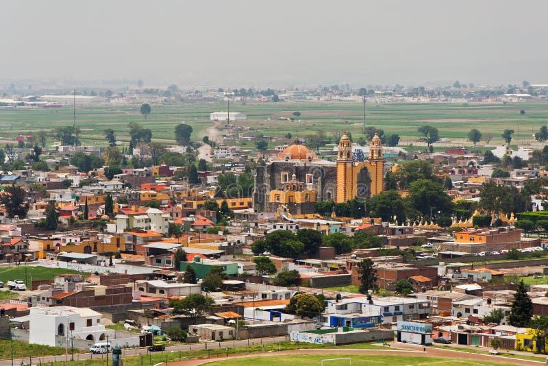 Iglesia en Cholula de Rivadabia México fotos de archivo