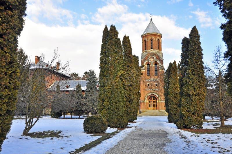 Iglesia en curtea de arges foto de archivo