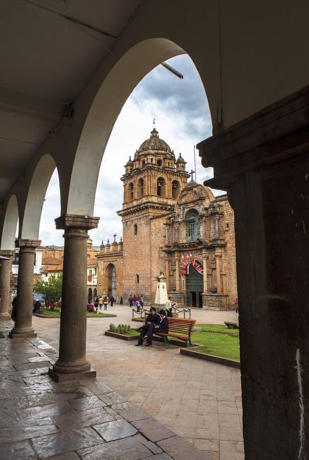 Iglesia en Cusco, Perú imagen de archivo