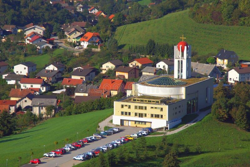 Iglesia en el aki del ¡de KoÅ, Maribor, Eslovenia fotografía de archivo