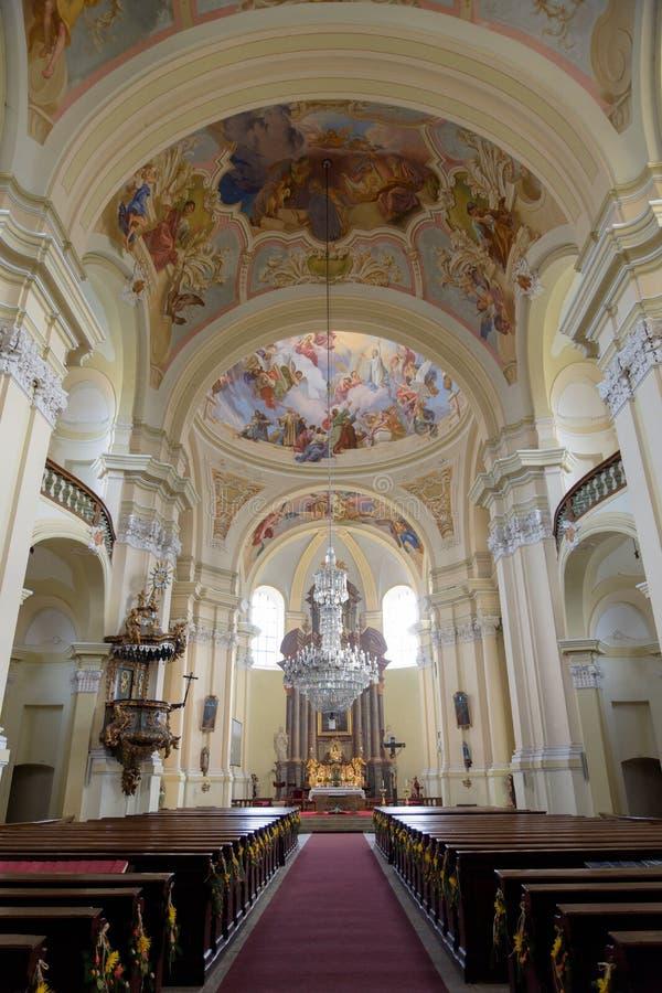 Iglesia en el Hejnice, República Checa fotografía de archivo