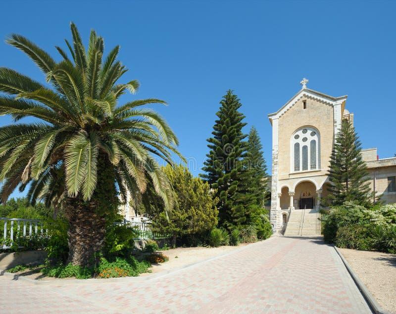 Iglesia en el monasterio Latrun imágenes de archivo libres de regalías