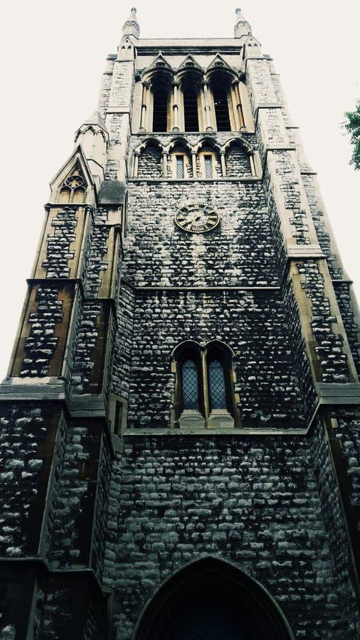 Iglesia en elefante y castillo imagen de archivo libre de regalías