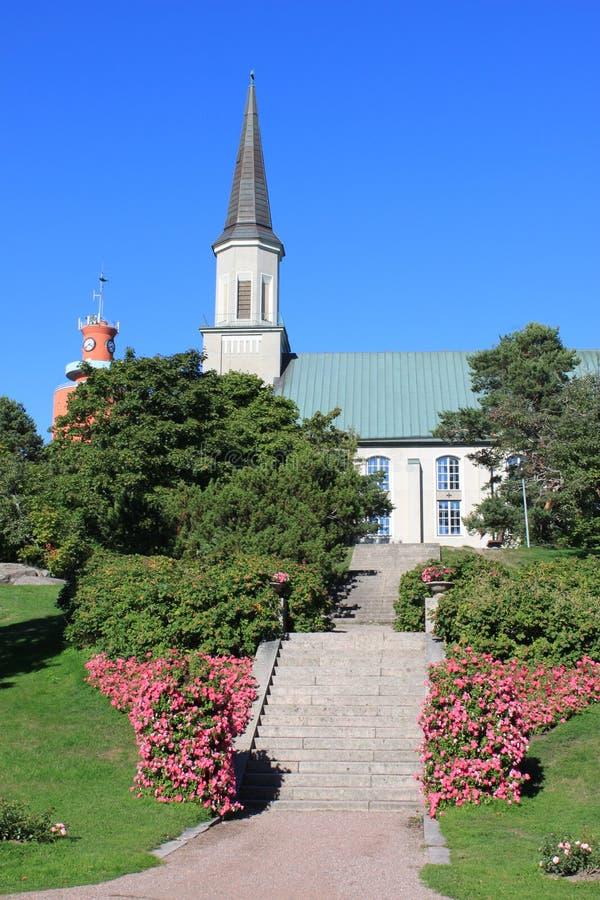 Iglesia en Hanko fotos de archivo libres de regalías