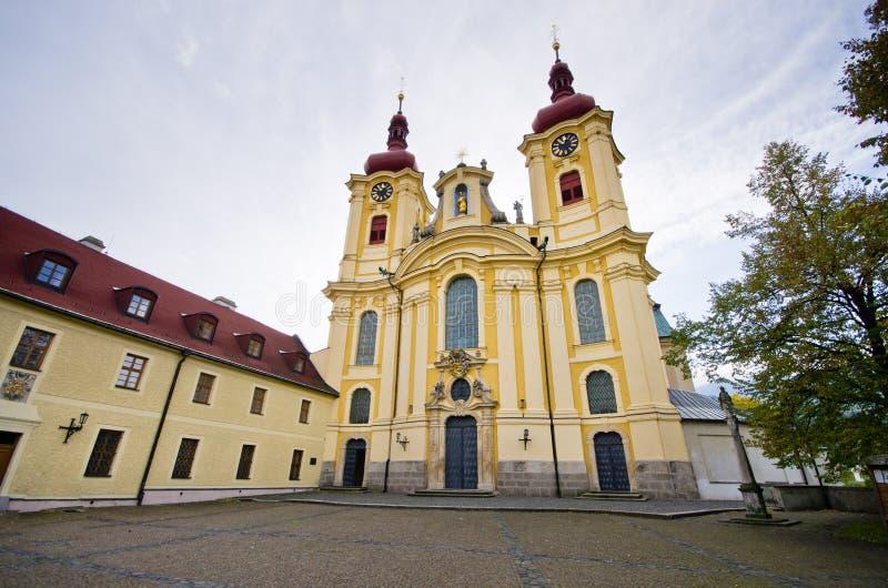 Iglesia en Hejnice, República Checa fotos de archivo