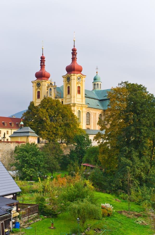 Iglesia en Hejnice, República Checa imagenes de archivo