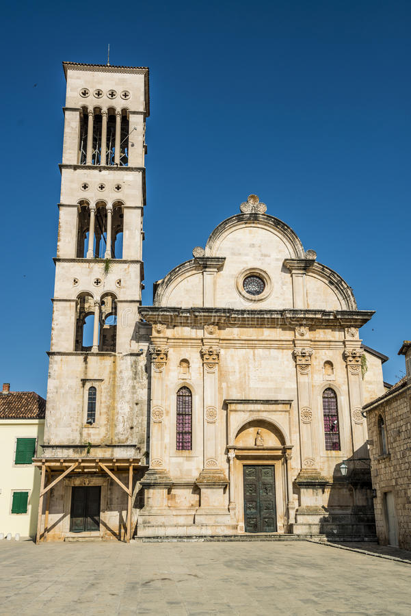 Iglesia en hvar, Croacia fotos de archivo