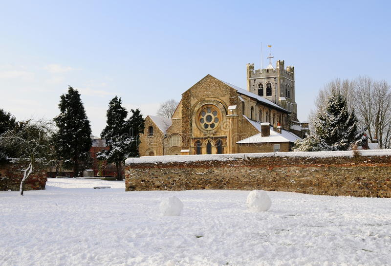 Iglesia en invierno foto de archivo