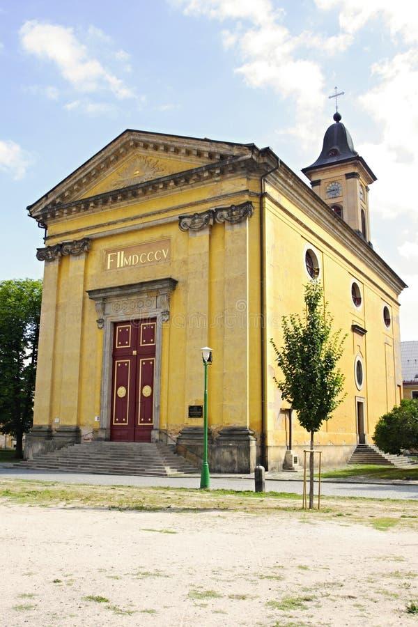 Iglesia en Josefov fotografía de archivo libre de regalías