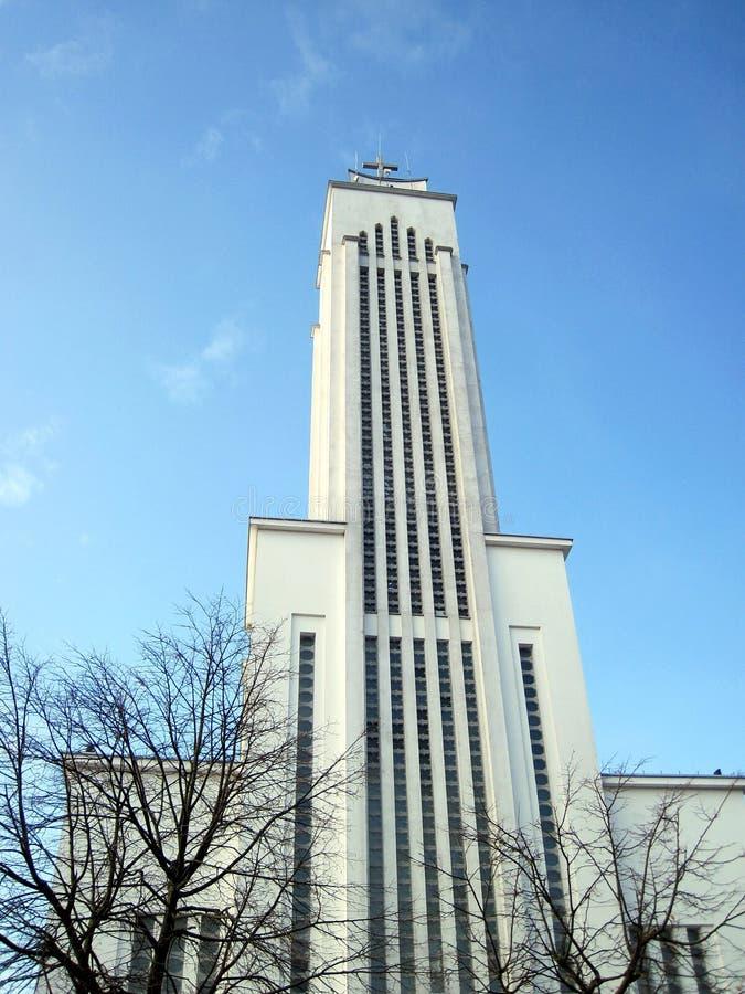 Iglesia en Kaunas fotografía de archivo libre de regalías