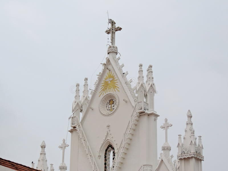 Iglesia en Kerala, la India imagen de archivo libre de regalías