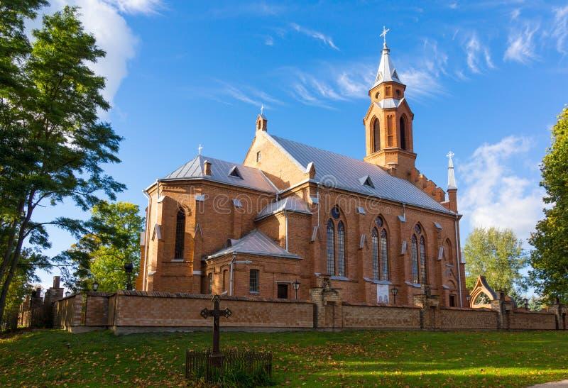 Iglesia en Kernave fotos de archivo