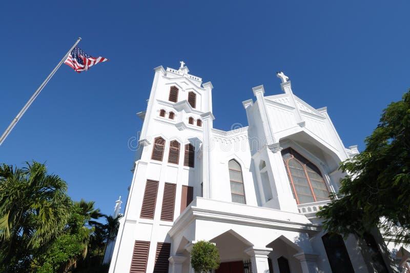 Iglesia en Key West, la Florida imagenes de archivo