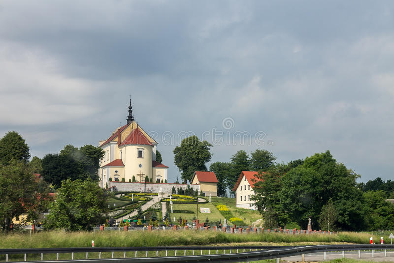 Iglesia en Kraków Polonia fotografía de archivo