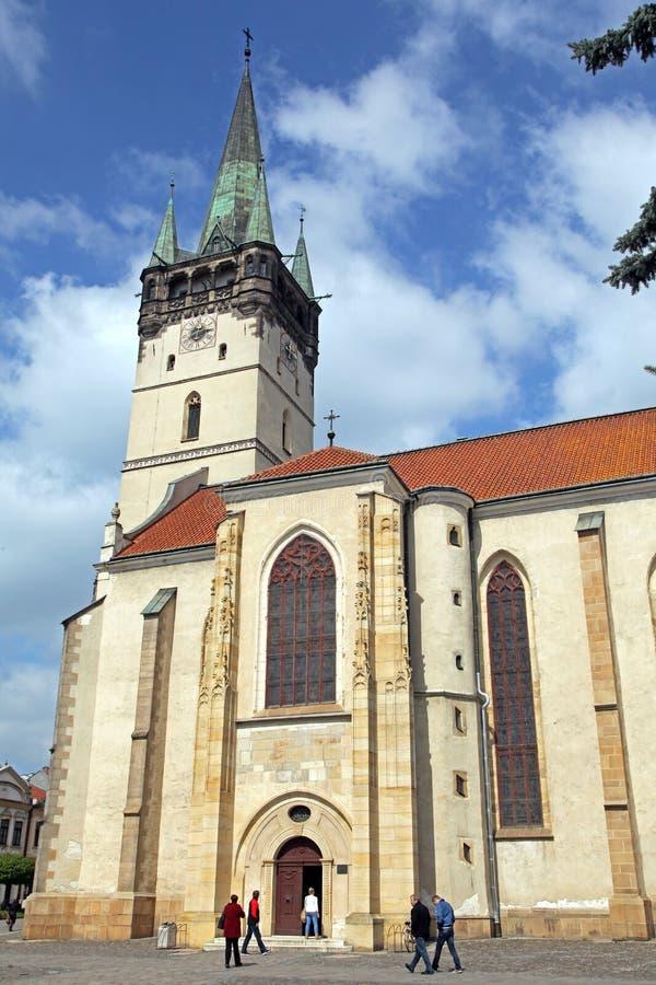 Iglesia en la ciudad Presov, Eslovaquia fotografía de archivo