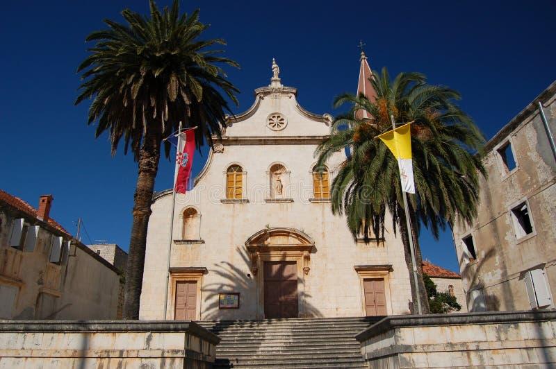 Iglesia en la isla de Milna - de Brac imagen de archivo libre de regalías