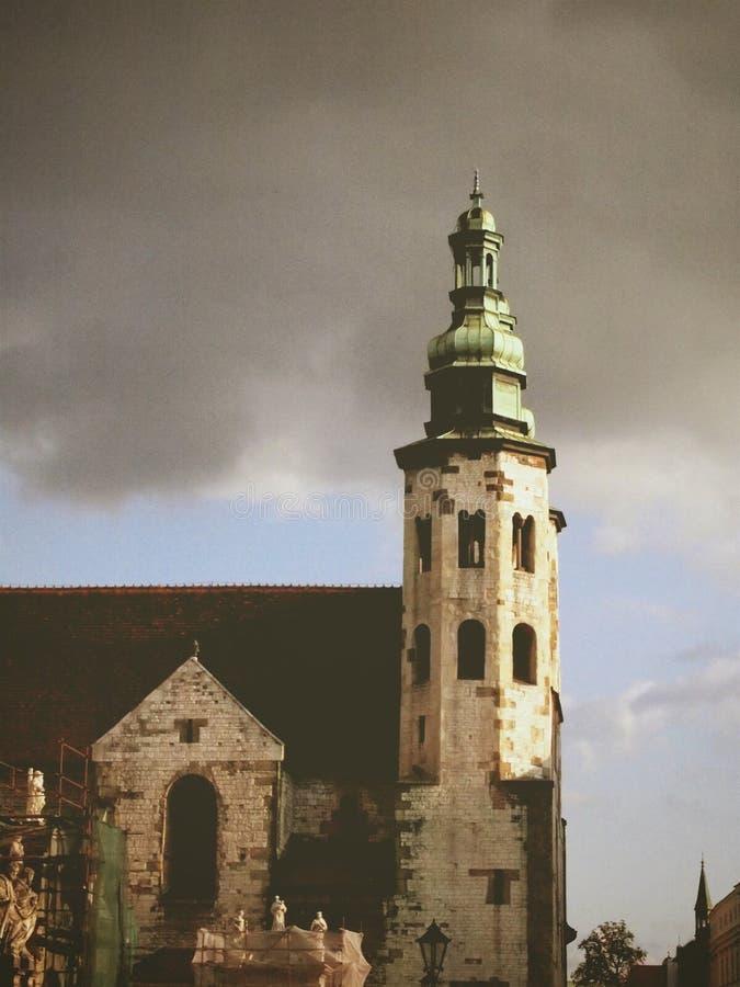 Iglesia en la Kraków fotografía de archivo libre de regalías