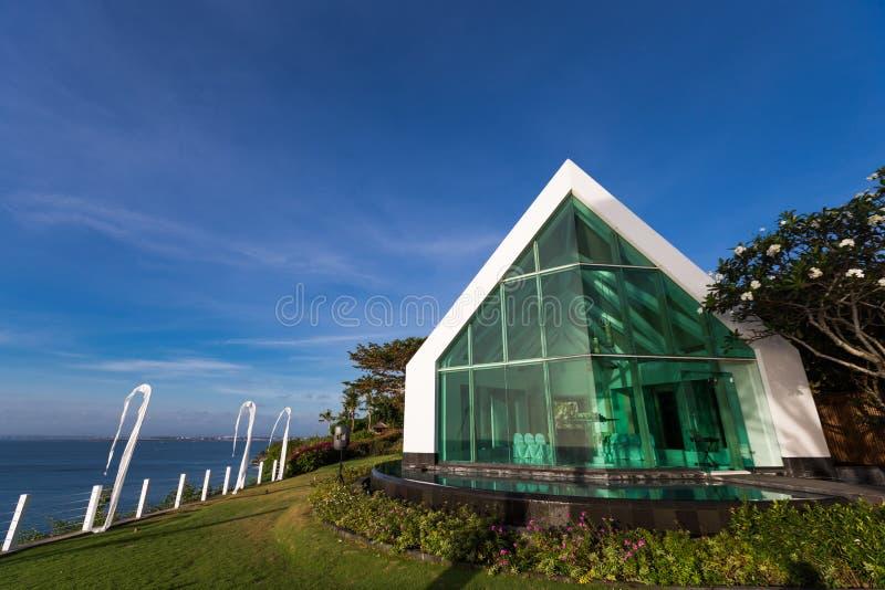 Iglesia en la playa fotografía de archivo libre de regalías