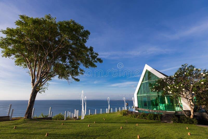 Iglesia en la playa foto de archivo libre de regalías