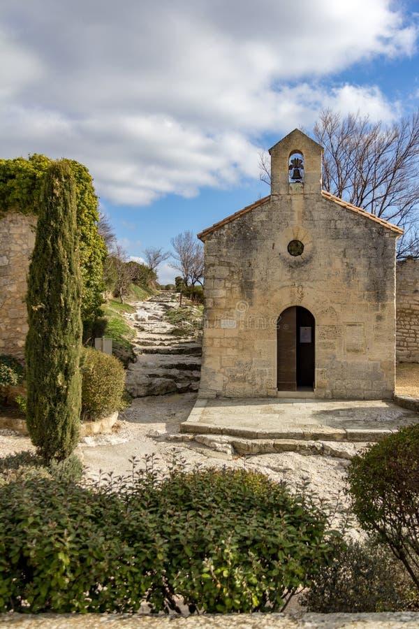 Iglesia en Les Baux de Provence foto de archivo