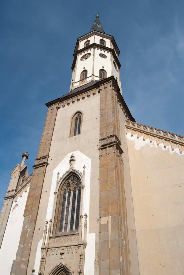Iglesia en Levoca imágenes de archivo libres de regalías